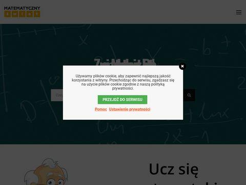 Zadania z matematyki - matematycznyswiat.pl