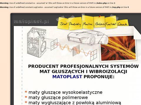 Matoplast.pl - wyciszanie samochodu