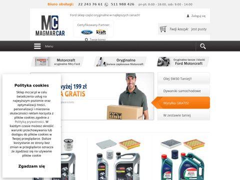 Ford części sklep internetowy - Mccar.pl