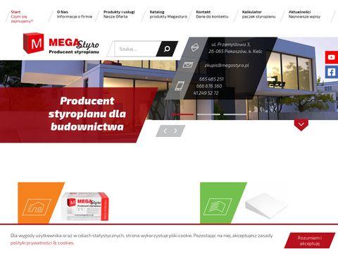 Producent styropianu, wypełniacze styropianowe, styropian Kielce - MegaStyro
