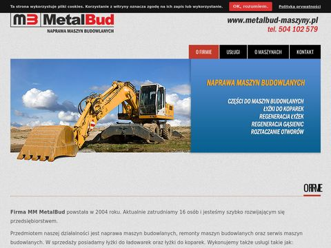 Maszyny budowlane serwis - MM MetalBud