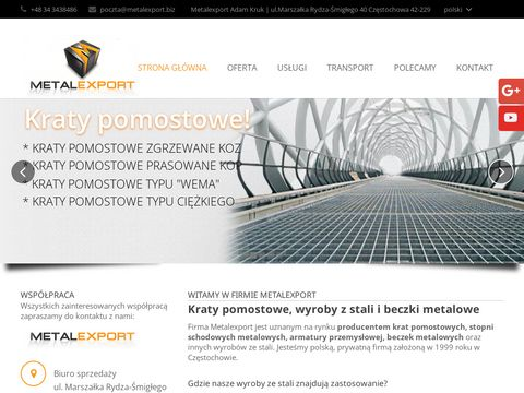 METALEXPORT Stopnie schodowe metalowe