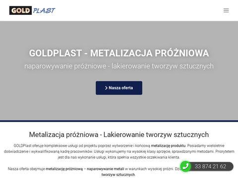 Metalizacja pr贸偶niowa - lakierowanie przemys艂owe GOLDplast