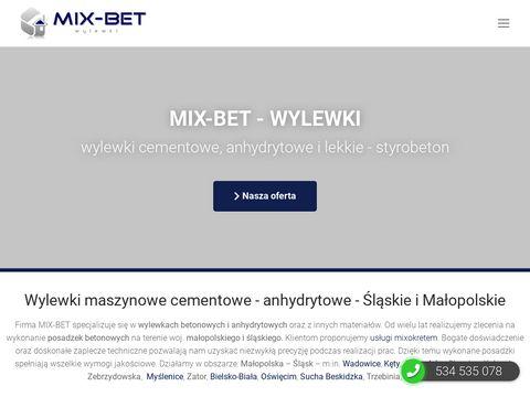 Wylewki mixokretem - wylewki cementowe i anhydrytowe - MIX-BET