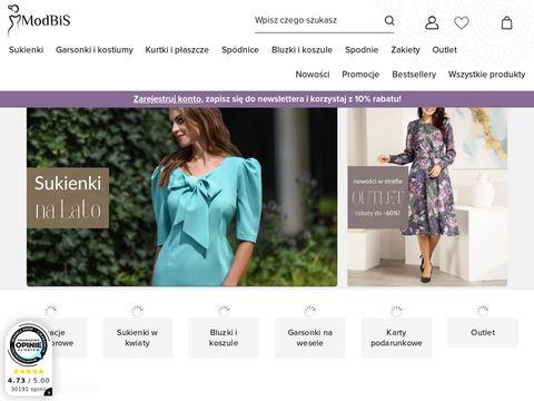 Modbis.pl sukienki wizytowe i sukienki do pracy