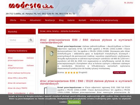 MODESTA - drzwi stalowe i konstrukcje aluminiowe.
