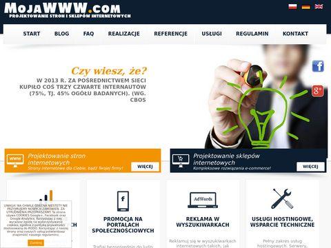 Moja WWW - Projektowanie stron i sklepów internetowych