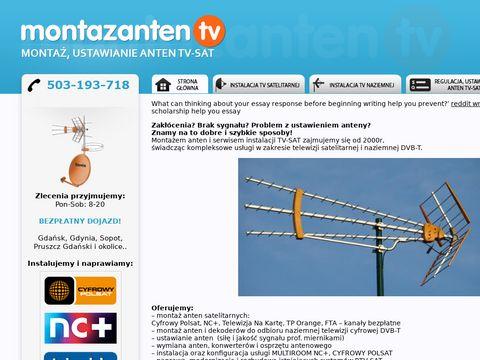 Regulacja, ustawianie, monta偶 anten TV-SAT Gda艅sk Sopot Pruszcz Gda艅ski i okolice