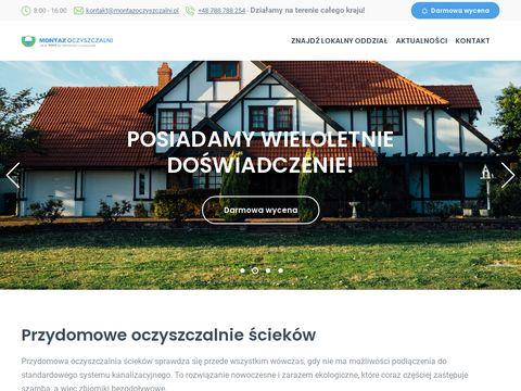 Oczyszczalnie ścieków - montazoczyszczalni.pl