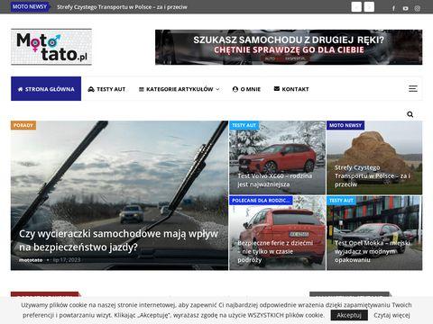 Mototato.pl - blog motoryzacyjny dla rodzica - testy aut, ciekawostki,porady.