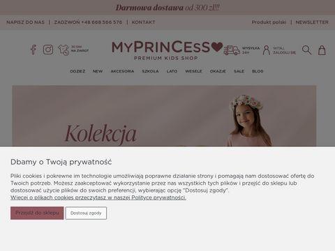 Ubrania dla dziewczynek - sklep odzieżowy Myprincess.pl