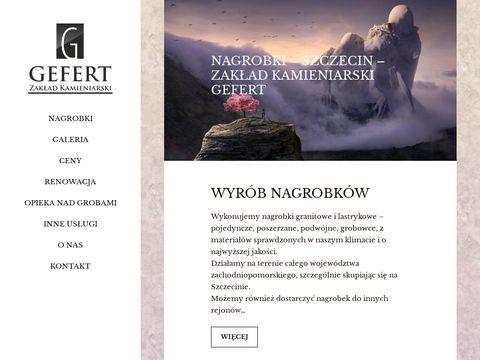 Nagrobki-Szczecin - Zak艂ad Kamieniarski Gefert