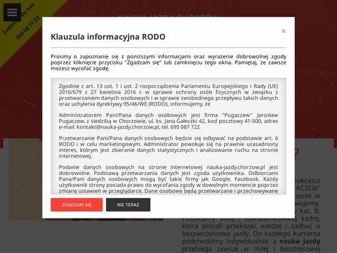 Nauka jazdy Chorz贸w Szko艂a jazdy Pugaczew - G艂贸wna