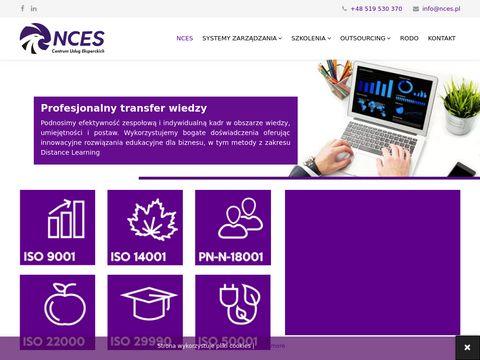 NCES - Wdrożenie ISO, certyfikaty ISO, szkolenia ISO 9001