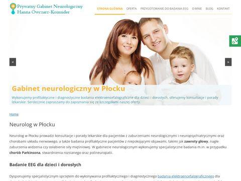 HANNA OWCZARZ-KO艢MIDER neurolog konsultacje p艂ock