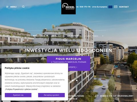 Nickel Development mieszkania na sprzedaż Poznań