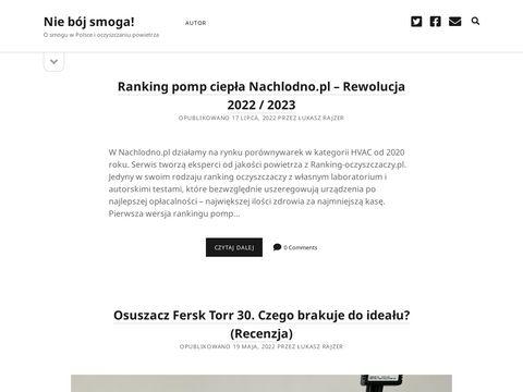 """Blog """"Niebojsmoga.pl"""" - O smogu w Polsce i oczyszczaniu powietrza"""