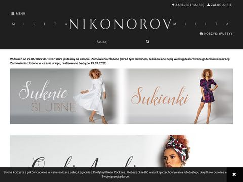Salon sukien 艣lubnych online. Sukienki wieczorowe