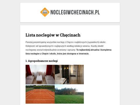 Lista noclegów - noclegiwchecinach.pl