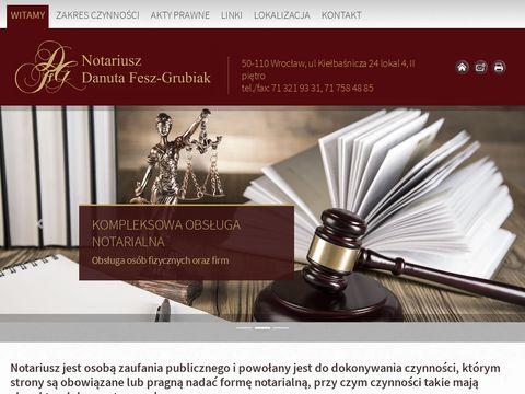 DANUTA FESZ-GRUBIAK NOTARIUSZ wrocław kancelaria notarialna