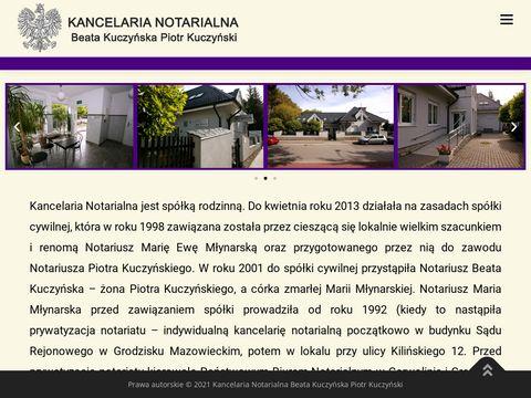Kuczy艅scy B.P., M艂ynarski W. Kancelaria notarialna Sp. P. notariusz grodzisk mazowiecki