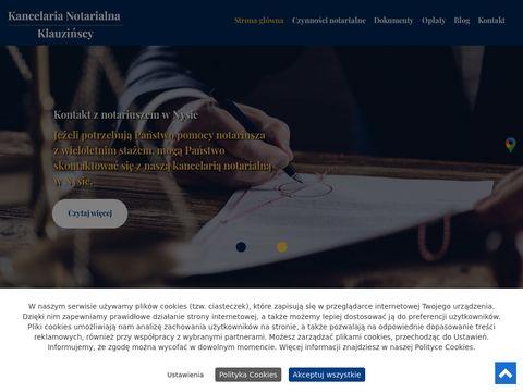 KLAUZIŃSKA JOLANTA kancelarie notarialne nysa