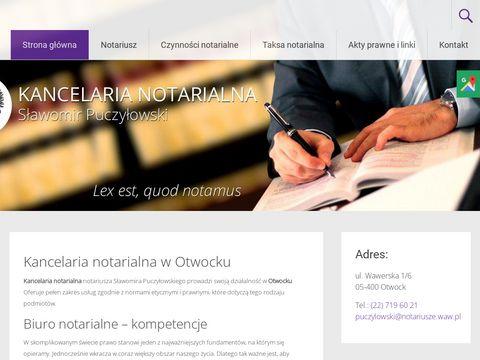 Puczyłowski S. odpisy aktów notarialnych otwock