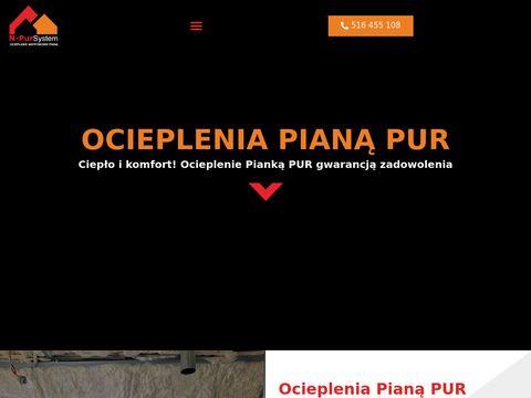 NPUR Piana Pur N-Pur System Ocieplanie pianÄ… izolacja piankÄ… natrysk