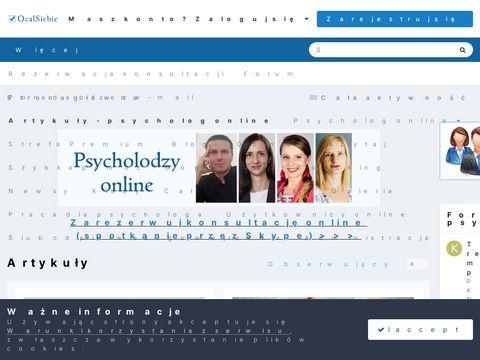 Psychoterapia Warszawa www.ocalsiebie.pl