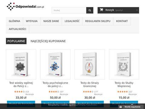 Testy do Policji - Odpowiedzi.com.pl
