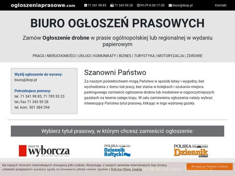 Internetowe Biuro Ogłoszeń Prasowych