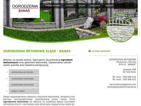 Ogrodzenia betonowe Å›lÄ…sk