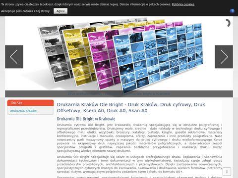 Drukarnia Kraków Ole Bright - Druk Kraków, Druk cyfrowy, Druk Offsetowy, Ksero A0, Druk A0, Skan A0