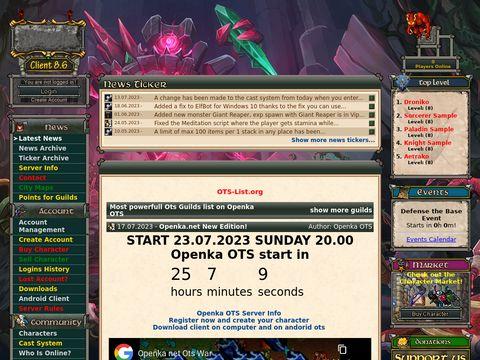 Openka OTS, Otserv, RL MAP, Tibia OTS, Server