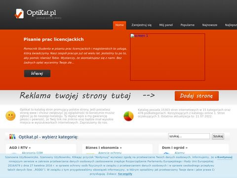 Optikat - katalog stron internetowych