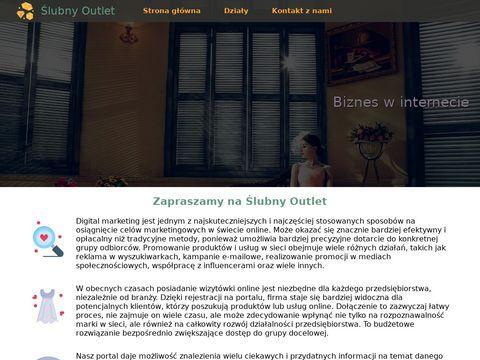 OUTLET 艢LUBNY suknia 艣lubna promocja szczecin