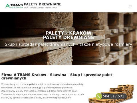 Palety drewniane Kraków - Skup i sprzedaż palet Skawina - A-Trans