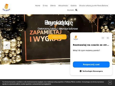 Panbalon.pl balony z nadrukiem Warszawa