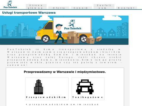 Międzynarodowe przeprowadzki i transport Warszawa - Pan Tobołek.