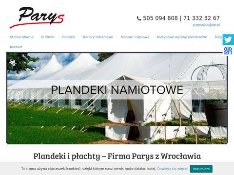 PARYS PAWE� RYPL WROC�AW plandeki wrocław