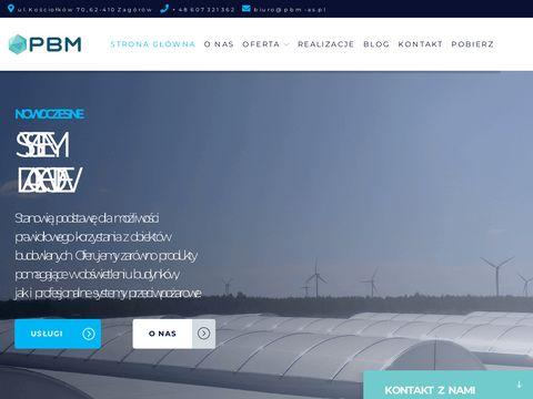 Systemy dachowe, przeciwpożarowe - Producent PBM AS