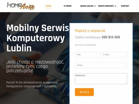 Mobilny serwis komputerowy Lublin