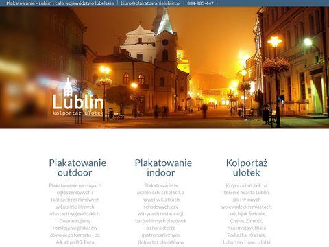 Plakatowanie Lublin - Kolportaż plakatów i ulotek - Słupy ogłoszeniowe - Lublin