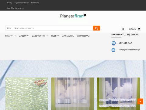 Planetafiran.pl - Tanie firany i zasłony