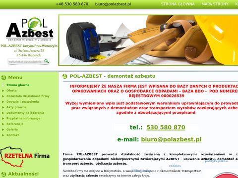 Utylizacja azbestu Białystok