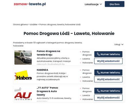 Pomoc Drogowa �ódź 532 412 412 holowanie, laweta