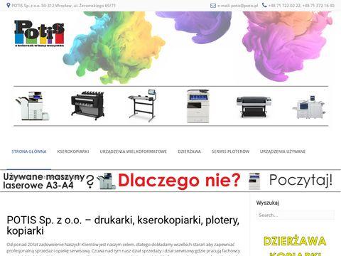 Potis.pl - Serwis i dzier偶awa kopiarek