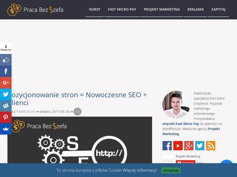 Jak pozycjonować strony www i blogi - Praca Bez Szefa