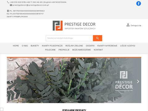 Importer kwiatów sztucznych z Chin - Prestige Decor