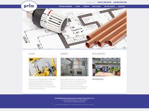 P.P.U PRIM SP. Z O.O. instalacje sanitarne mazowieckie